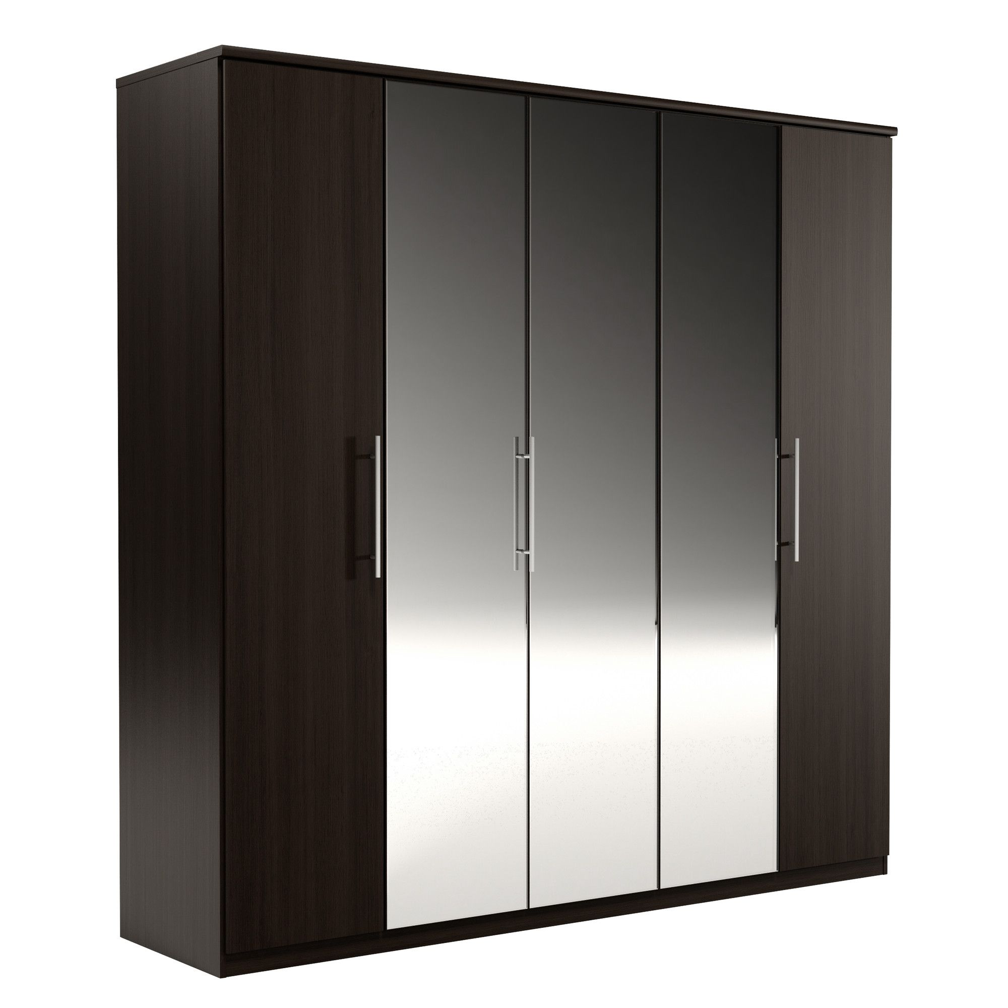Urbane Designs Prague 5 Door Wardrobe - Espresso at Tesco Direct