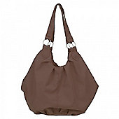 OBaby Pompom Changing Bag - Brown