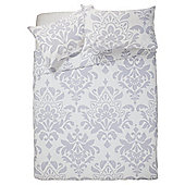 Tesco Imperial Damask Duvet Set Kingsize Grey