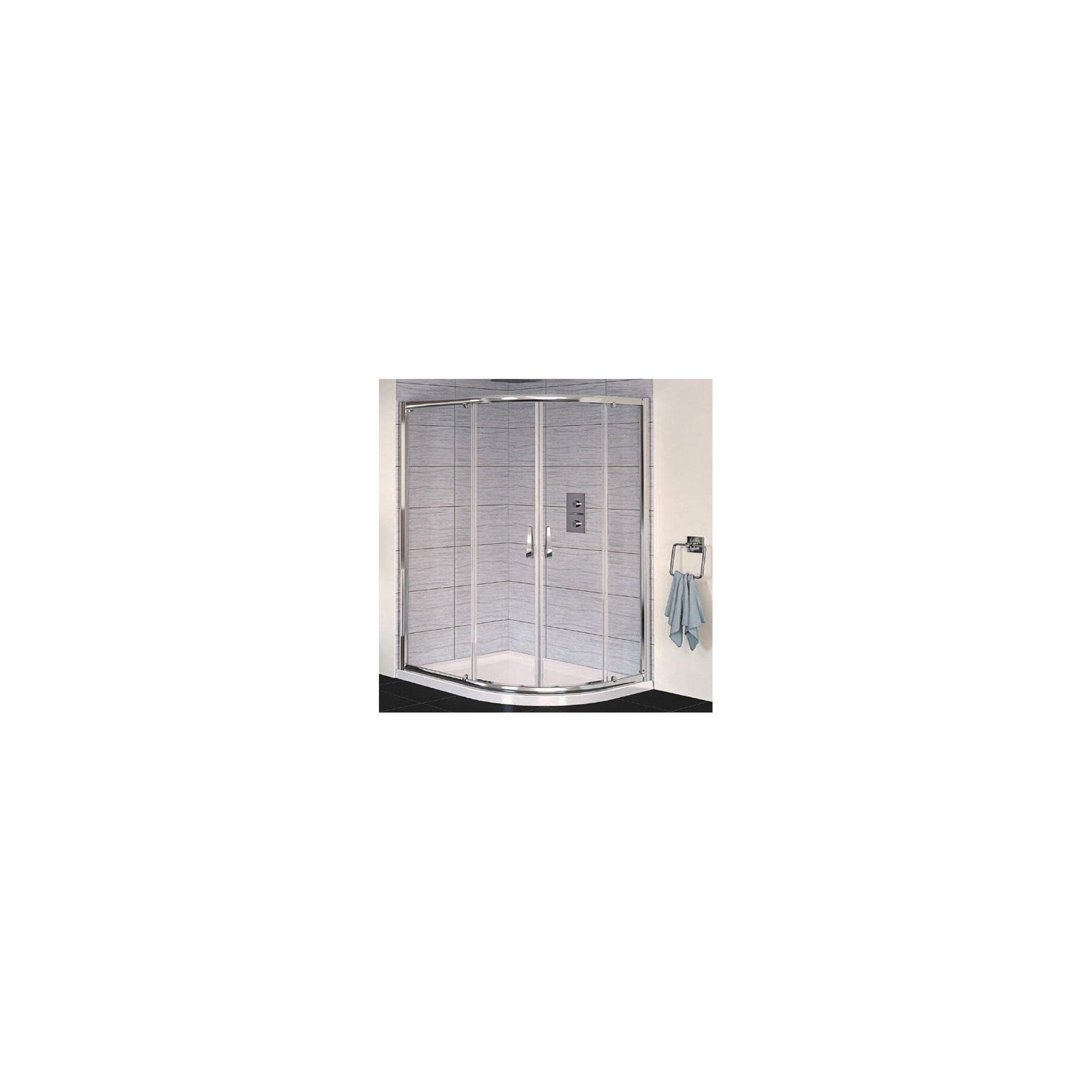 Aqualux AQUA6 Offset Quadrant Shower Door, 1200mm x 900mm, Polished Silver Frame, 6mm Glass at Tesco Direct