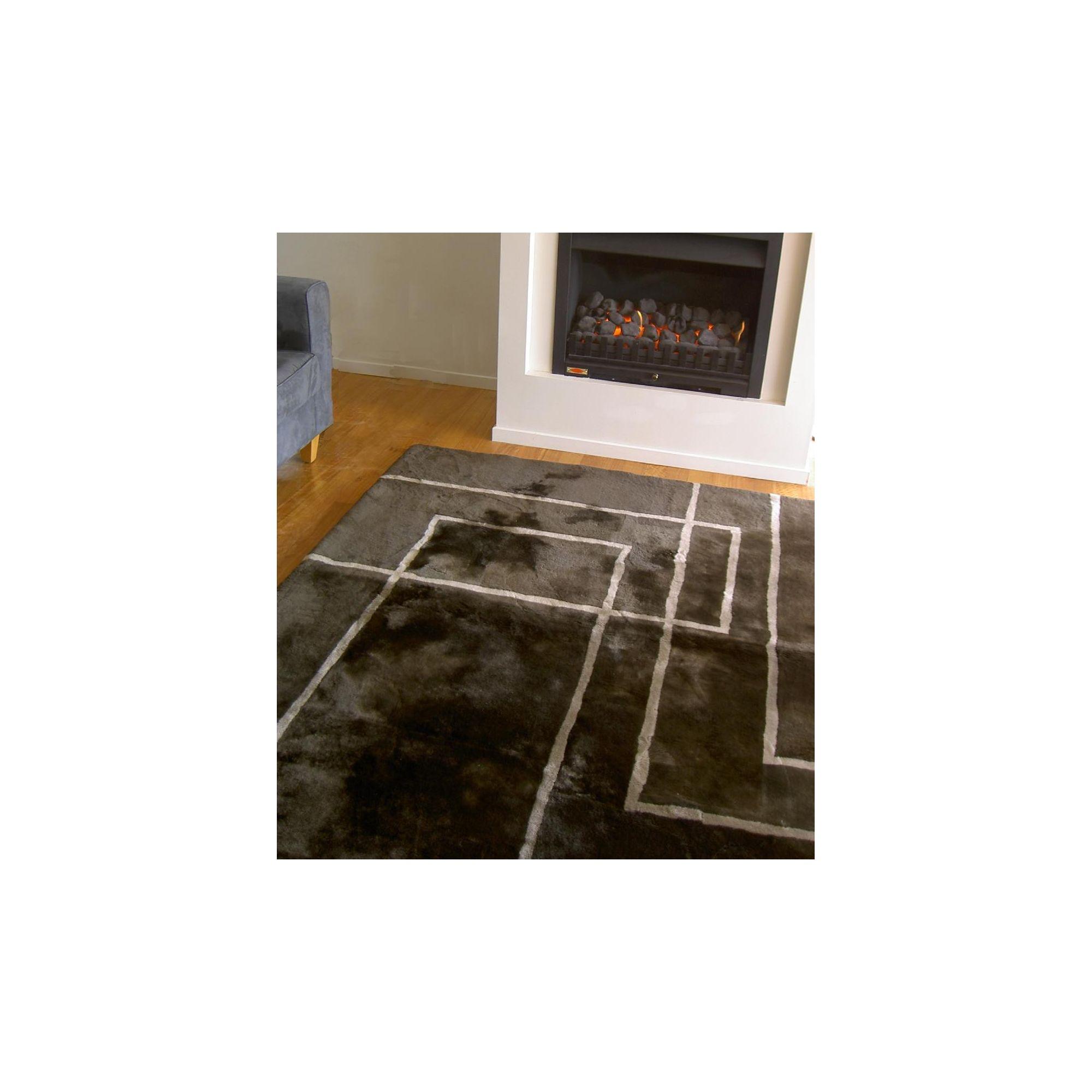 Bowron Sheepskin Shortwool Design Corners Rug - 180cm H x 120cm W x 1cm D at Tesco Direct