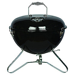 Tesco Retro Portable Charcoal BBQ, Black