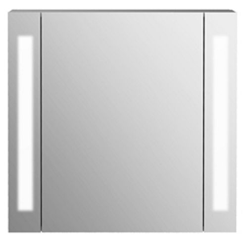 buy odyssey mirror bathroom cabinet shaver socket lights white