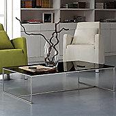 Gillmore Space Mondrian Coffee Table in Black glass