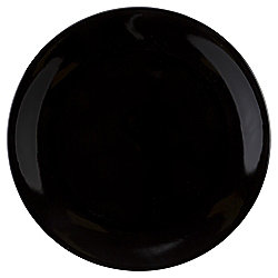Tesco Basics Dinner Plate, Black