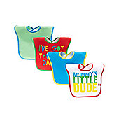 B Baby's Mummy and Daddy Bibs - 4 Pack