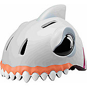 Crazy Stuff Childrens Helmet: White Shark S/M.