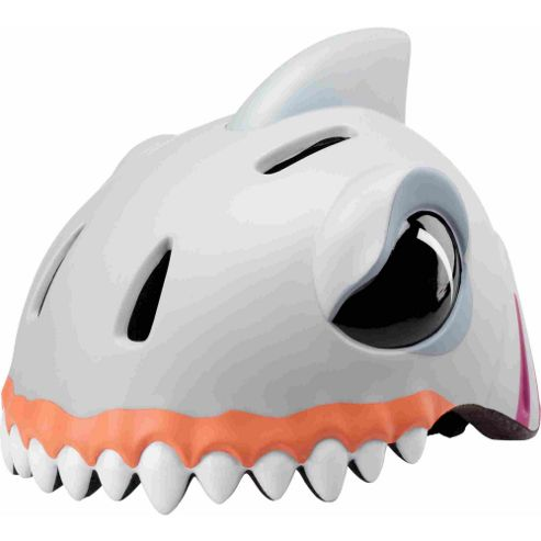 Crazy Stuff Childrens Helmet: White Shark S/M