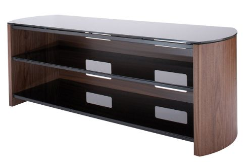 Walnut Real Wood Veneer TV Stand for screens up to 50 inch