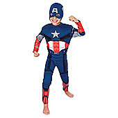Rubies EVA Muscle Chest Captain America- L
