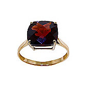 QP Jewellers 4.50ct Garnet Rococo Cushion Ring in 14K Gold