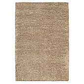 Husain International Plain Beige Shaggy Rug - 180cm x 120cm (5 ft 11 in x 3 ft 11 in)