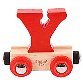 Bigjigs Rail Rail Name Letter Y (Red)