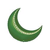 Green Crescent Balloons - 17' Foil Balloon (5pk)
