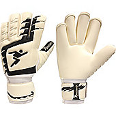 Precision Gk Classic Roll Finger Junior Goalkeeper Gloves - White