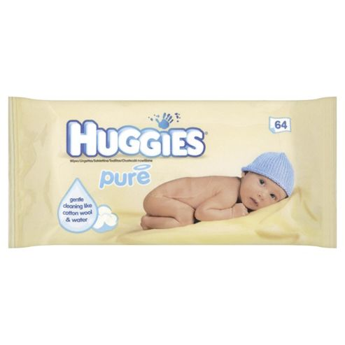 Huggies Pure Baby Wipes Singles 64