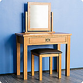 Surrey Oak Dressing Table Set - Rustic Oak