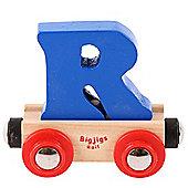 Bigjigs Rail Rail Name Letter R (Dark Blue)