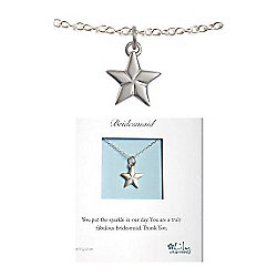 Lily Charmed Bridesmaid Silver Star Necklace