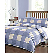 Newquay Double Quilt Cover Set - Blue
