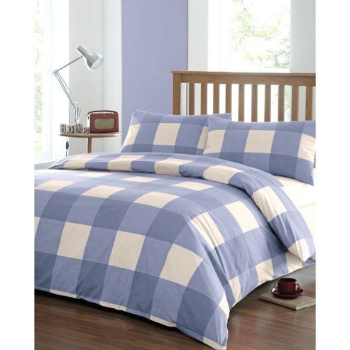 Dreams n Drapes Newquay Double Duvet Cover Set - Blue