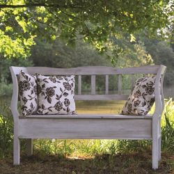Norfolk Leisure UK Lyon Bench in Colonial Old White