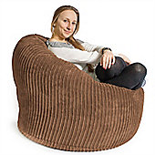 Lounge Pug™ Mini Mammoth Cord Bean Bag - Sand
