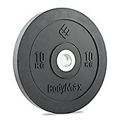 Bodymax Olympic Rubber Bumper Plate - Black 10kg