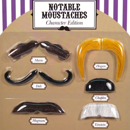 Fancy Dress Moustaches - Character Edition
