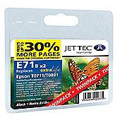 Epson T0711 Black Compatible Ink Cartridge by JetTec  E71B