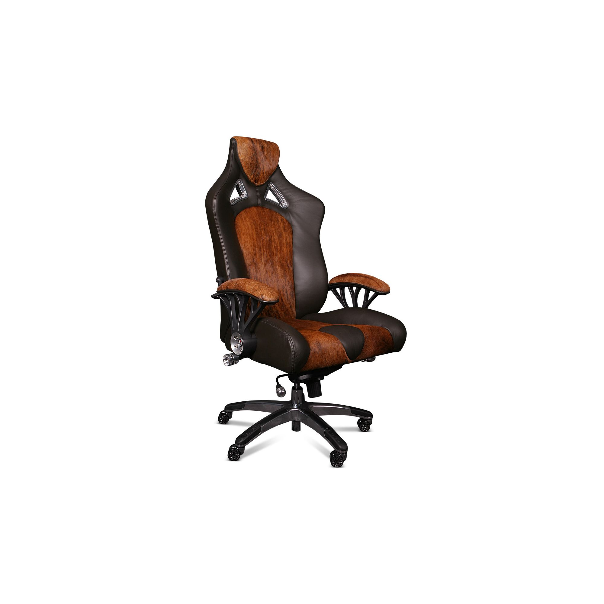 ProMech Racing Speed998 Upholstered  Office Racing Chair - Brown Leather/Cowhide at Tesco Direct