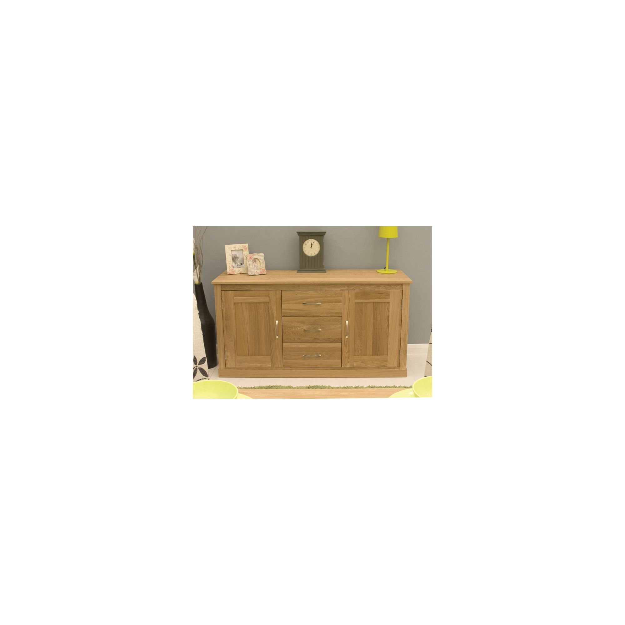 Baumhaus Mobel Oak Large Sideboard at Tesco Direct