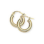 Jewelco London 9ct Yellow Gold - Classic Hoop Earrings -