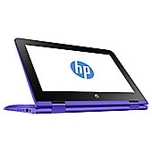 "HP 11.6"" 11-aa001na Stream X360 Intel Celeron 2GB RAM 32GB eMMC Storage Violet Purple 2 in 1 Laptop"