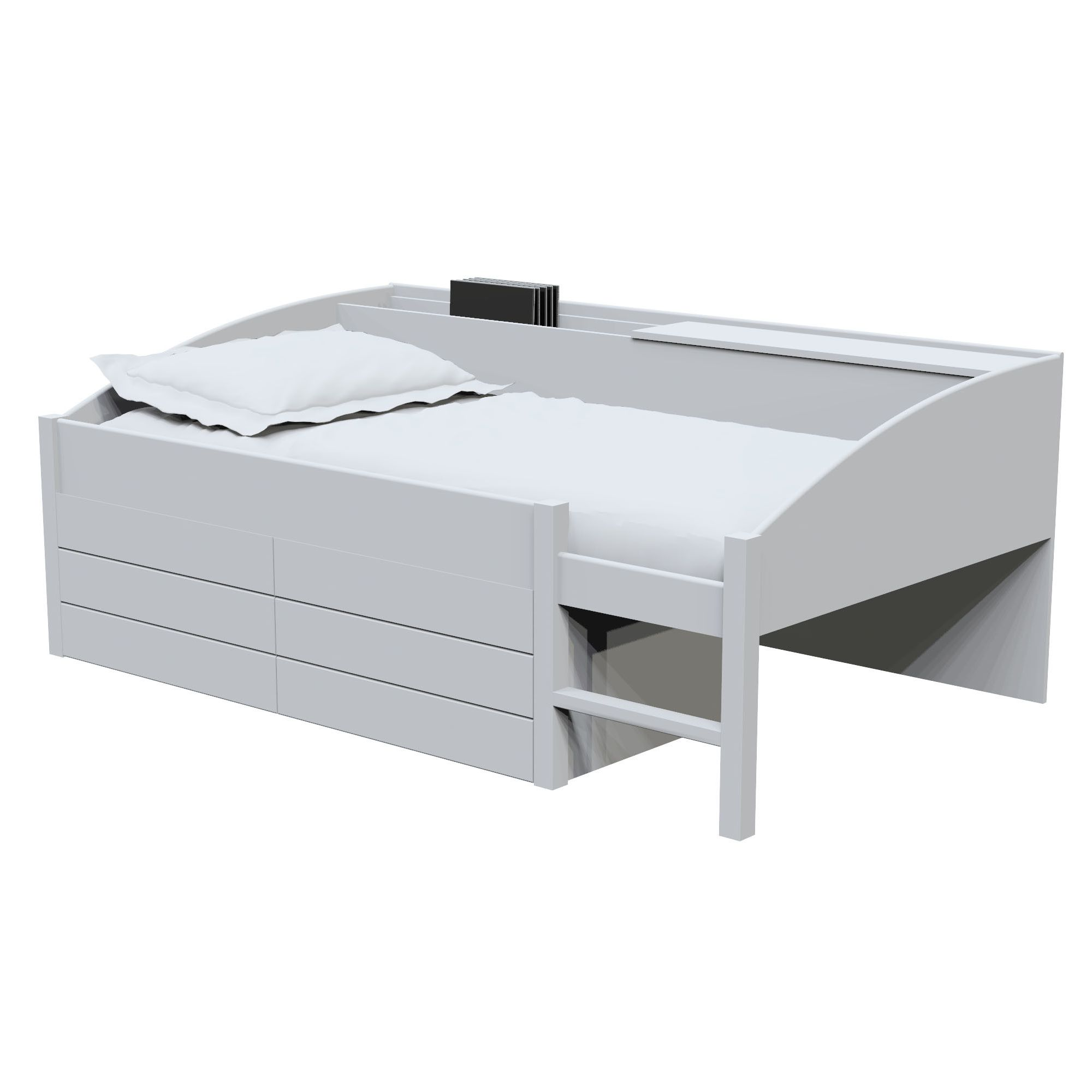Altruna Moove Bed with Two Drawers - White at Tesco Direct