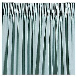 Plain Canvas Pencil Pleat Curtains W117xL183cm (46x72'') - Eau De Nil