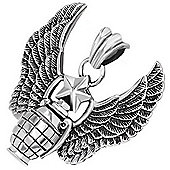 Urban Male Stainless Steel Winged Grenade Pendant