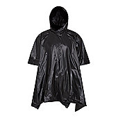 Festival Emergency Waterproof Camping Walking Hiking Foldable Lightweight Poncho - Black