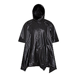 Waterproof Poncho  - Black - One Size