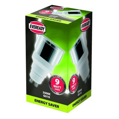 Eveready 9W 240V Energy Saving Mini GU10 Lamp