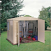 8ft x 10ft Plastic Pvc Shed With Steel Frame (3.04m x 2.43m)