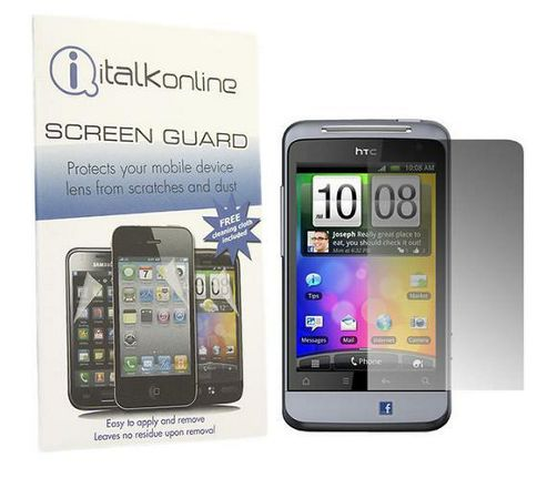 iTALKonline S-Protect LCD Screen Protector and Micro Fibre Cleaning Cloth - For HTC Salsa
