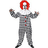 Scary Clown - Adult Costume Size: 36-38