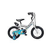 "Claud Butler CBR Space Ranger Kids' 14"" Wheel Silver Junior Bike"