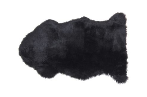 Auskin Natural Sheepskin Black Long Wool Premium Rug