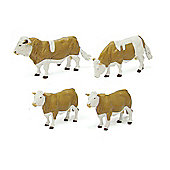 Simmental Cattle - Scale 1:32 - Britains Farm