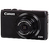 Canon Powershot S120 Camera Black 12MP 5xZoom 3.0LCD FHD 24mm Wide Lens WiFi GPS