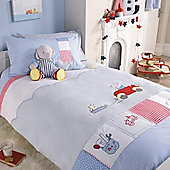 Izziwotnot Humphreys Little Red Car Cot Bed Pillowcase