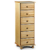 Julian Bowen Pickwick 6 Drawer Narrow Chest