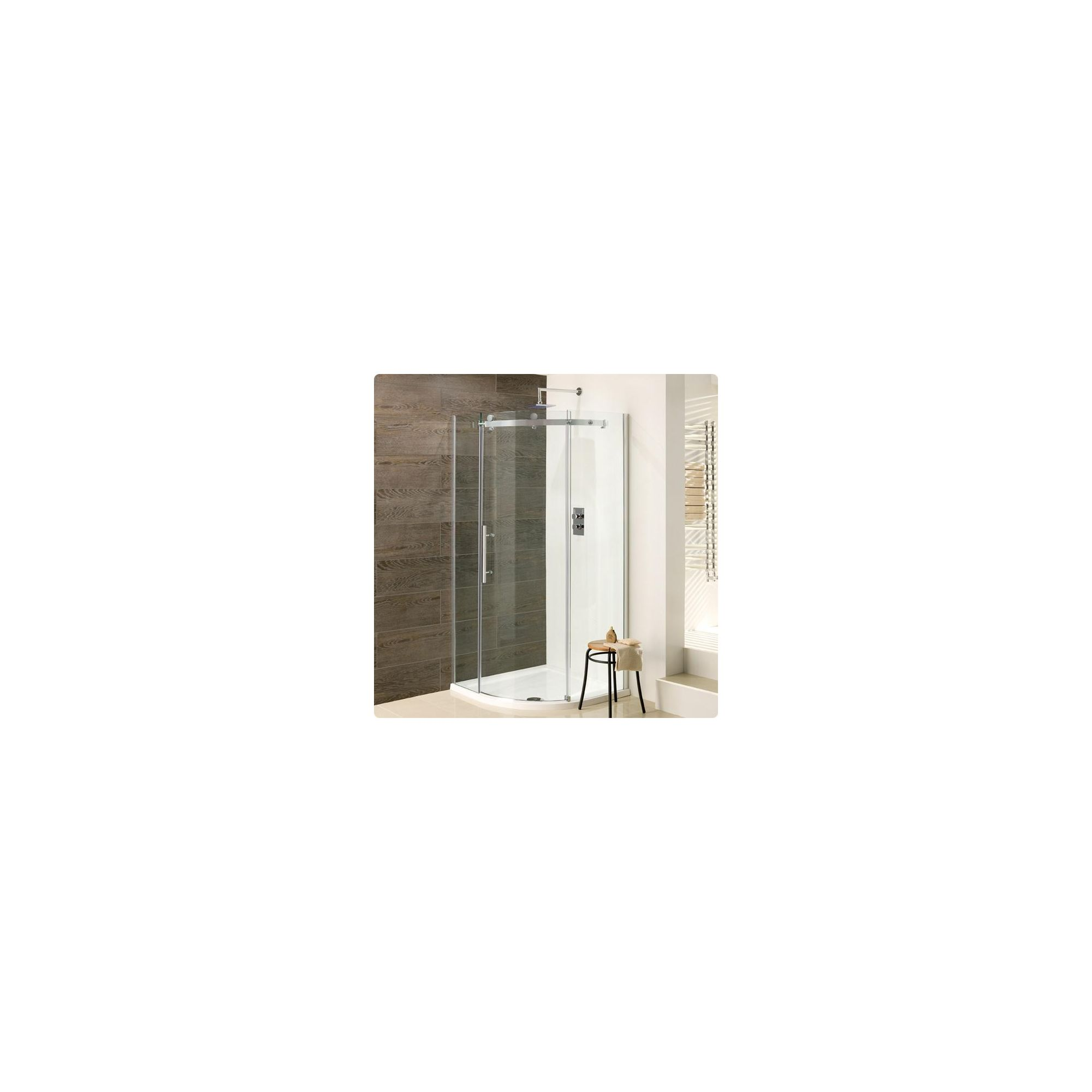 Duchy Deluxe Silver Quadrant Shower Enclosure 800mm (Complete with Tray), 10mm Glass at Tescos Direct